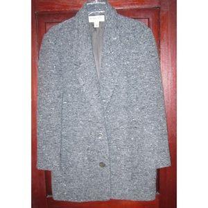 Michael Kors S M Tweed Blazer Jacket Coat Long VTG